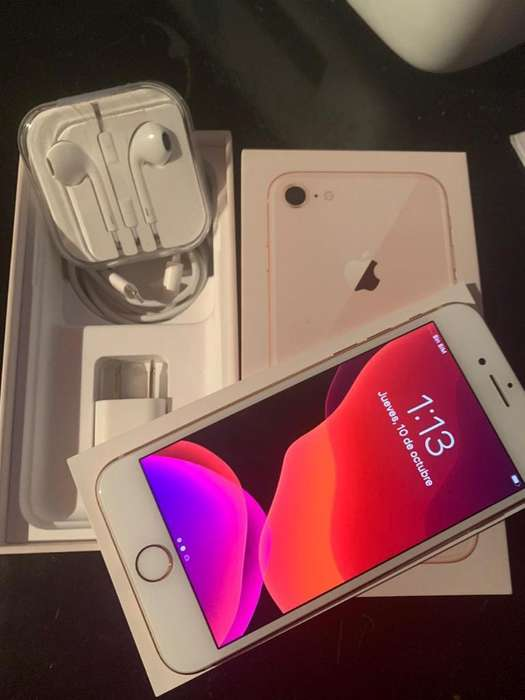 Vendo iPhone 8 Blanco en Perfecto Estado