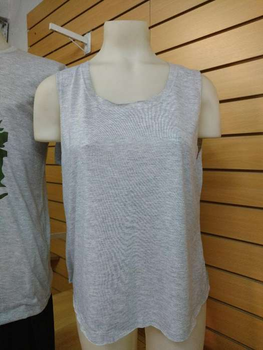 Musculosa Gris Sublimable