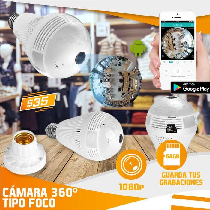 CÁMARA FOCO IP 360 GRADOS 1080P - VISION NOCTURNA CON APP ACCESO REMOTO