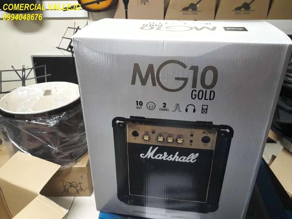 99 AMPLIFICADOR MARSHALL DE GUITARRA ELECTRICA MG10CF. NUEVO DE PAQUETE!