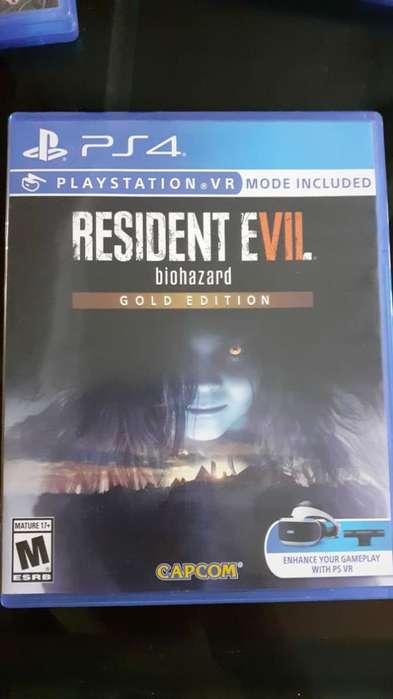 Se Vende Juego de Play 4, Resident Evil