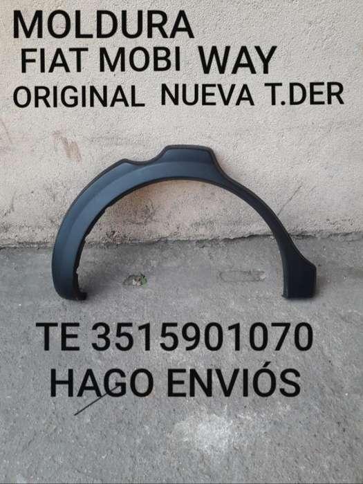 Moldura Fiat Mobi Way Original Nueva T D