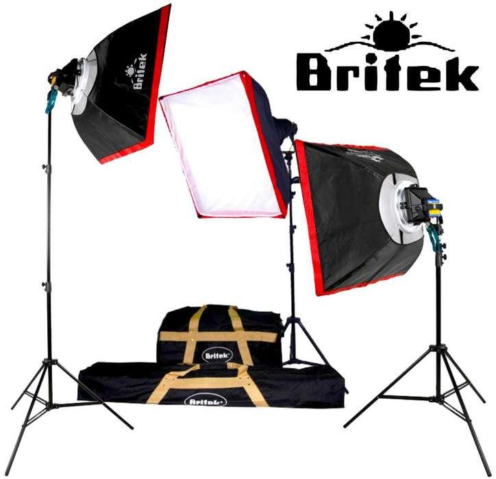 Kit <strong>estudio</strong> Fotográfico Britek 1950w Softbox caja De Luz