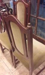 elegantes sillas en pana canela / 1500 caa una