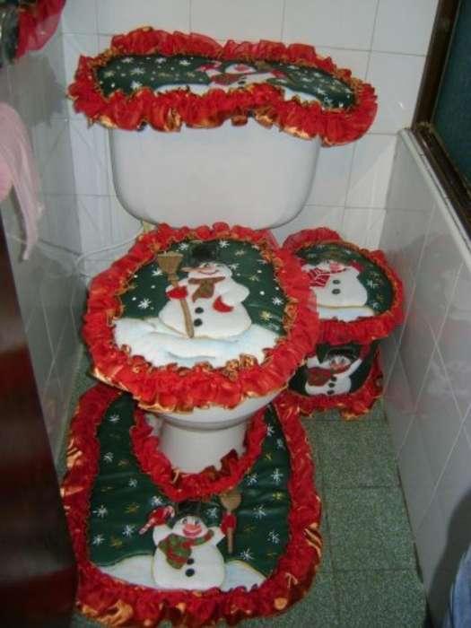 Juego Baño Navideño Decorativo