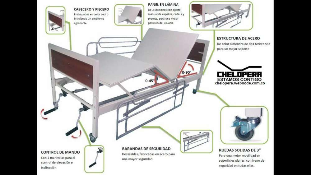 Cama Hospitalaria Manual Original