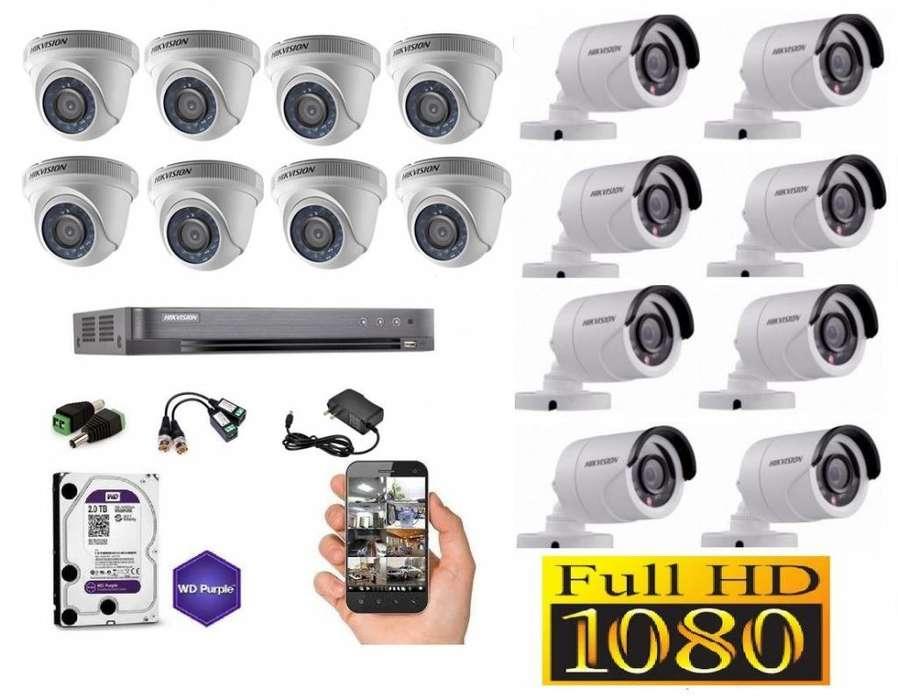KIT CCTV HIKVISION DE 16 CANALES FULL HD (DS-7216HQHI-K2)