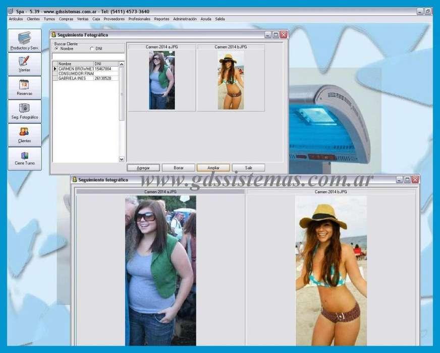 Spa - programa de gestión comercial para centro de estética solárium -- software GDS Sistemas