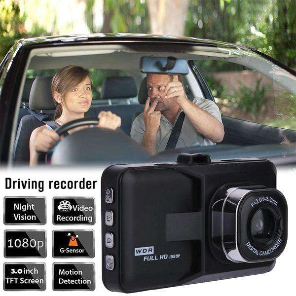 Camara Carro Dvr Full Hd 1 Lente Sensor Movimiento Usb Sd