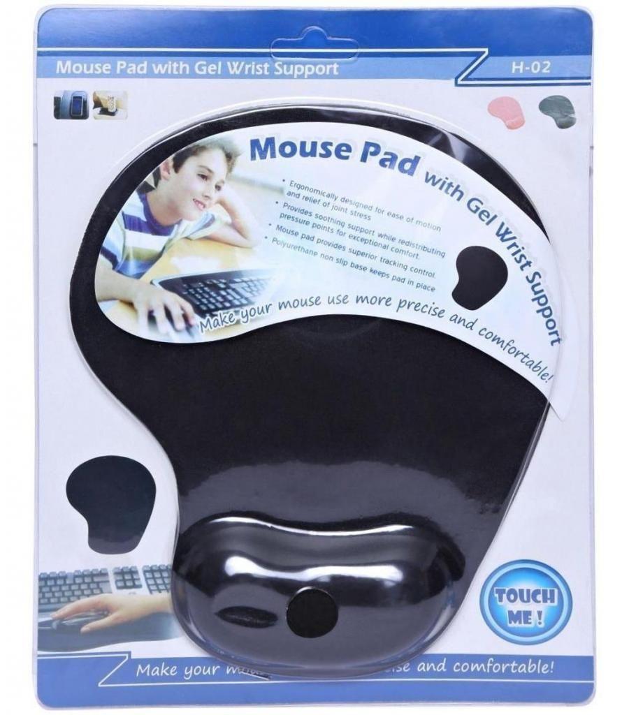 Pad Mouse Tela Con Gel Acolchado Descansa Mano Muñeca