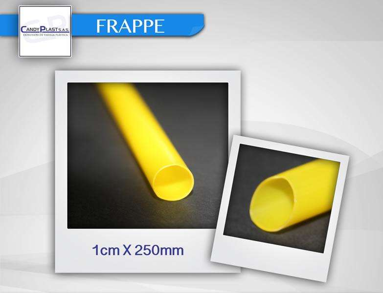 Sorbetes Pitillos Popotes de 8mm de Colores para Bebidas Espesas Smoothies Frappe Bubble Tea