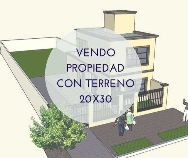 Casa en 70 de construccin sobre terreno 20x30