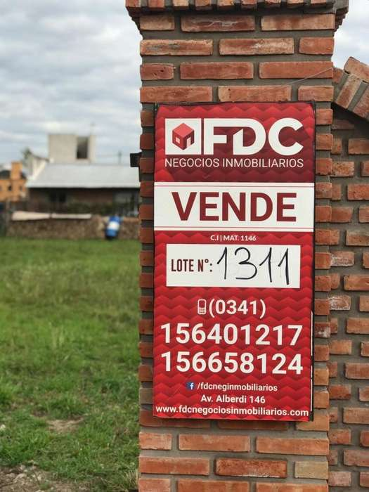 VENTA TERRENO FUNES CITY LOTE 1311 CON FRENTE COLONIAL ESCRITURADO
