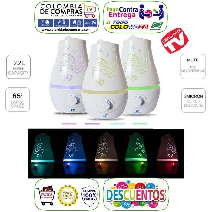 Difusor Aromas Grande 2.200 ML, Humidificador Lampara Led, Ambientador, Nuevos, Garantizados