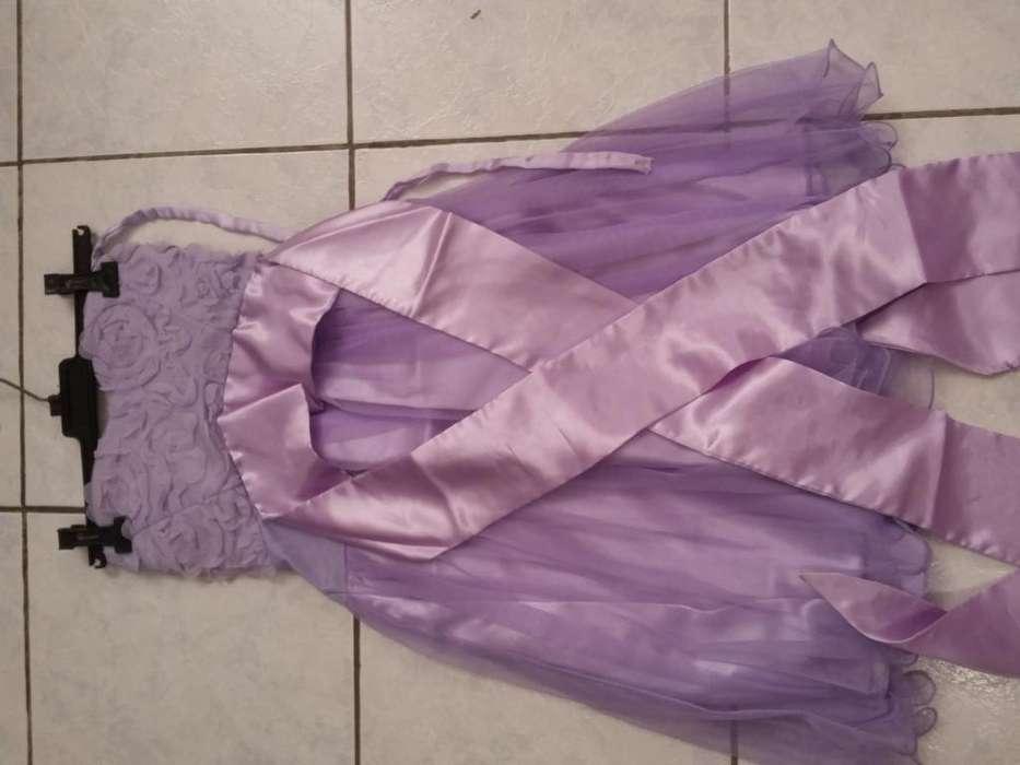 Vestido corto juvenil lila