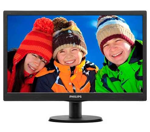 Monitor 19 Philips LED 193v5lsb2 VGA PC Nuevo Garantia La Plata