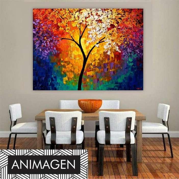 hermoso árbol colorido y decorativo 9864