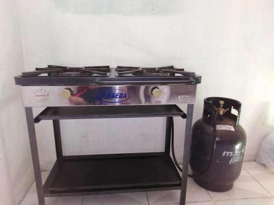 COCINA INDUSTRIAL 2 hornillas BALÓN DE GAS