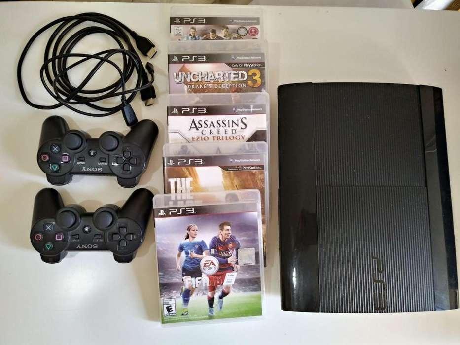 Ps3 2 Joystick Sony Y 5 Juegos