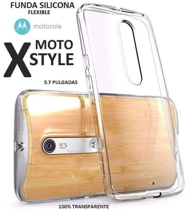 Funda Tpu Silicona Ultra Fina Motorola Moto X Style Rosario