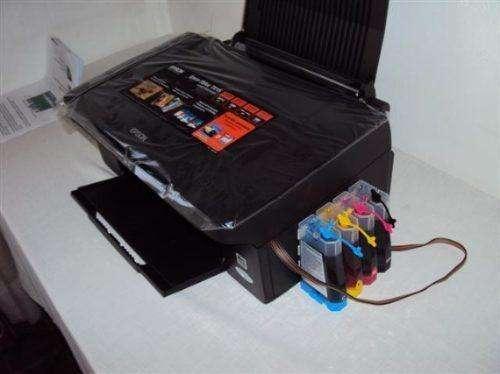 vendo impresora epson multifuncional tx210 con sistema continuo a 200 soles