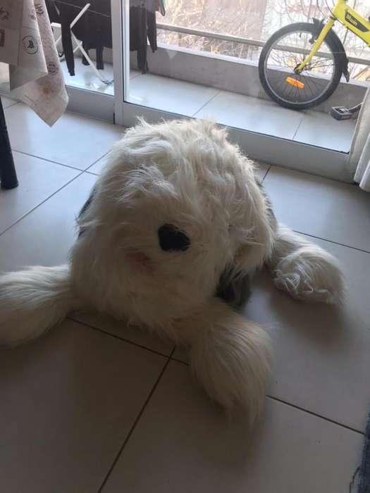 Perro de peluche grande como nuevo