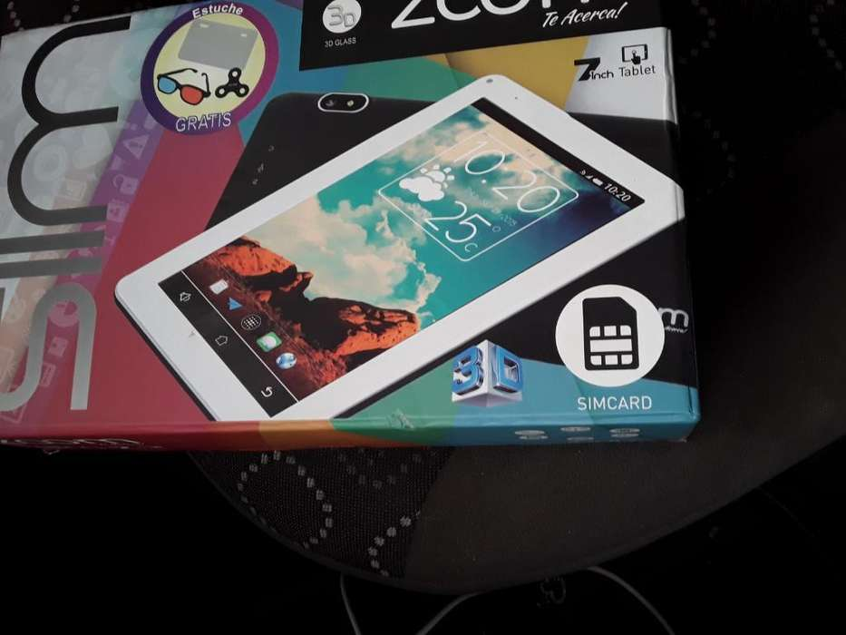 Tablet con Chip Casi Nuevaen Su Caja