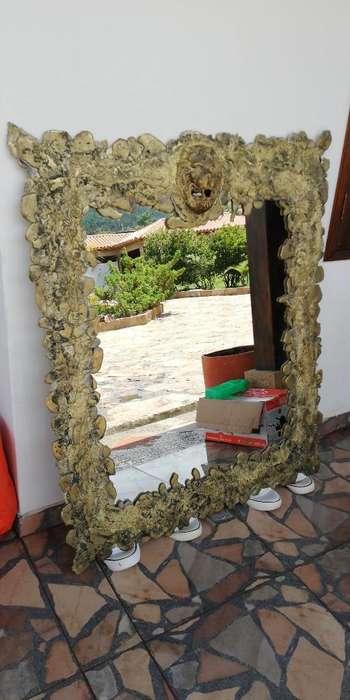 Espejo Grande en Bronce