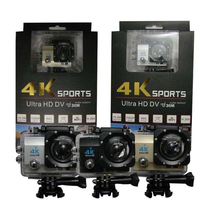 Cámara Sport Ultra Hd Dv 4k 16 Mpxs 30 Sumergible