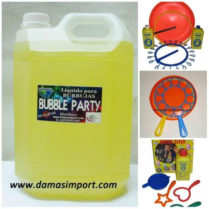 Burbujas de jabón: artículos y jabón listo.