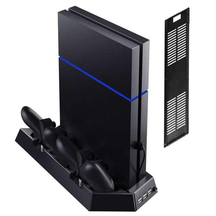 Base Vertical Ps4/ps4 Slim Cargador Dualshock Refrigerante