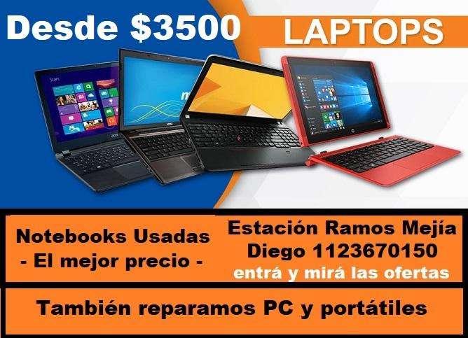 Notebook s y PC modelos Dual core, i3, i5, Hay Varias Con Garantía Ramos mejía Sólo efectivo
