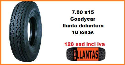 700 - 15 Goodyear CEOLLANTAS