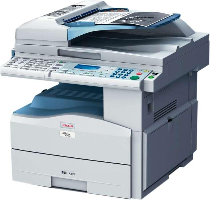 Copiadora laser ricoh 201 costo 480.000 tel 3148369769