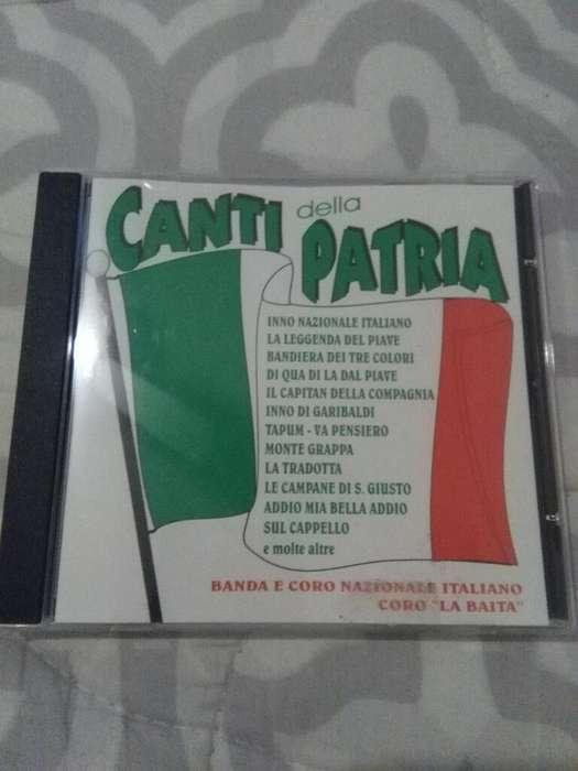Cd Música Canti della Patria . Canciones Patrióticas Italianas . 1997 Himno y mas