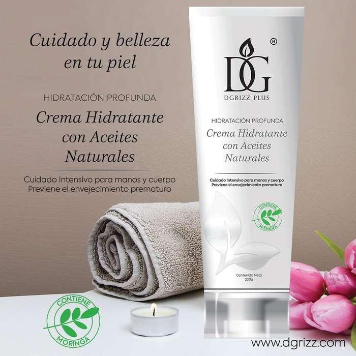 Crema Hidratante Con Aceites Naturales - Dgrizz 200 gr.