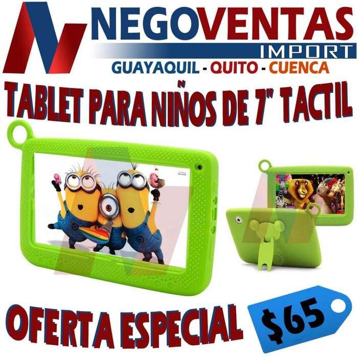 TABLET PARA NIÑOS DE 7 PULGADAS TÁCTIL INCLUYE 36 JUEGOS