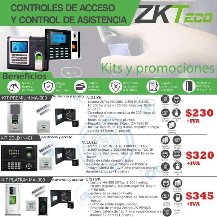 Control de Acceso /kit control de Acceso/boton de salida/cerradura electromagnetica-Respaldo de batería-Quito-Guayaquil