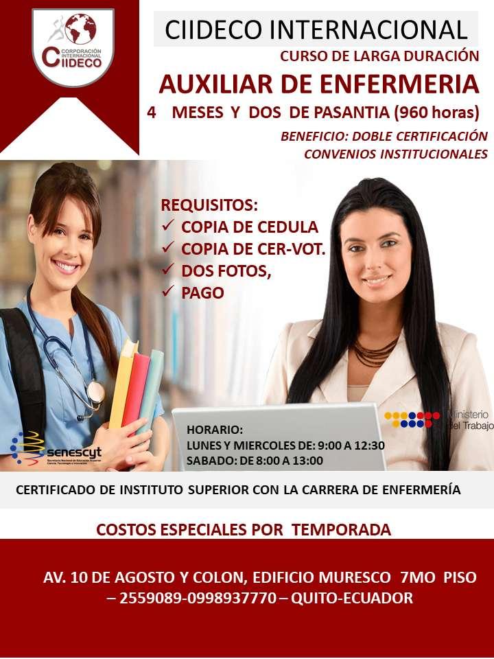 Curso Auxiliar De Enfermería Quito Servicios 1054899857