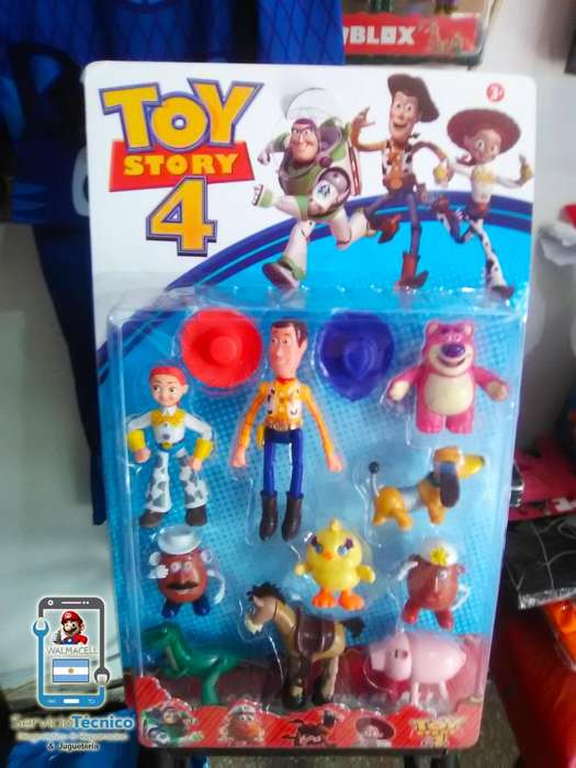 Set 10 Muñecos Toy Story 4!!