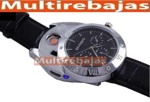 Reloj Encendedor Recargable Importado Premium
