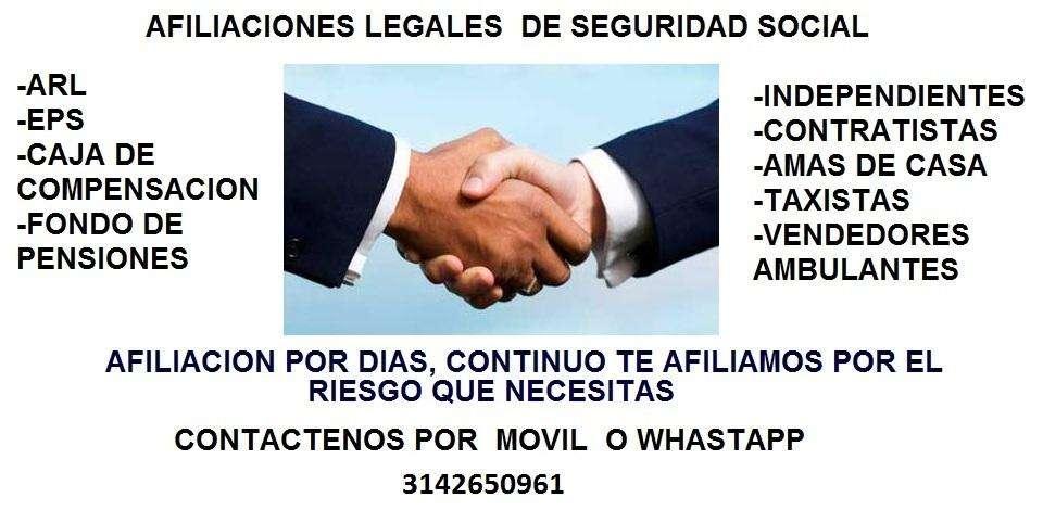 AFILIACIONES LEGALES DE SEGURIDAD SOCIAL
