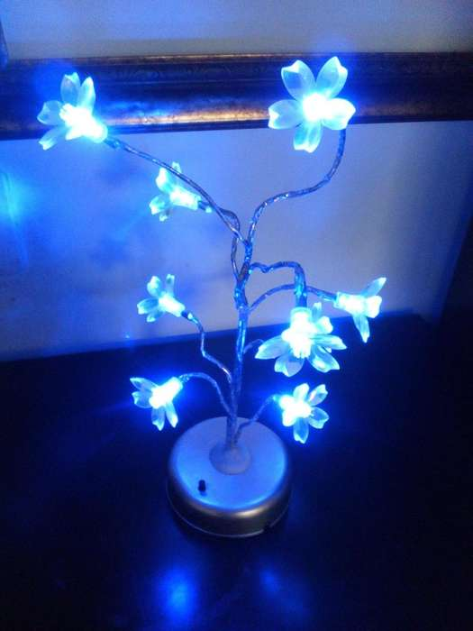 Lampara de mesa, luces led