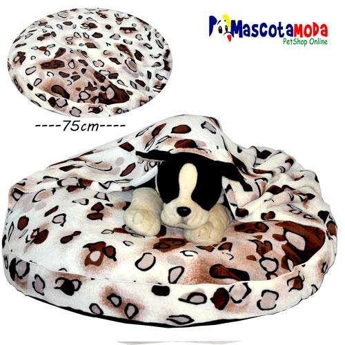 Cama PUFF con cobija para perros medianos y estandar muy comoda abrigada