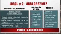 OPORTUNIDAD DE NEGOCIO LOCALES COMERCIALES EN EL CENTRO
