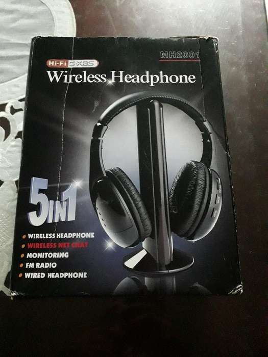 Audifonos W Ireless Headphone 5 en 1