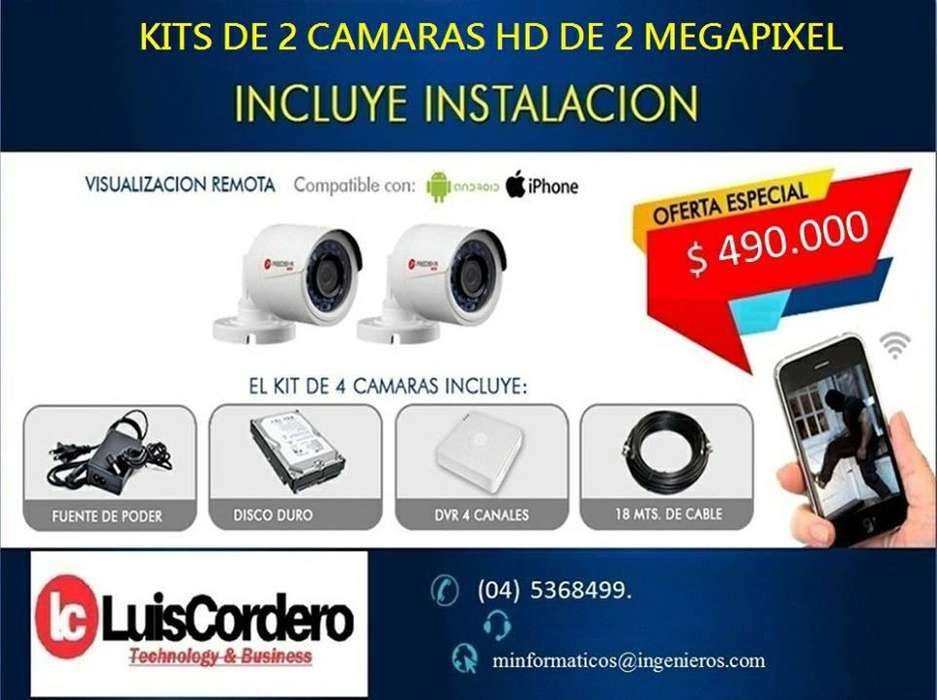 KIT DE CAMARAS DE SEGURIDAD HD
