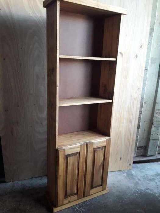 biblioteca de madera nueva!!!!!! a 4950 pesos