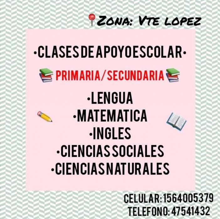 CLASES PARTICULARES ZONA VTE LOPEZ/ALREDEDORES