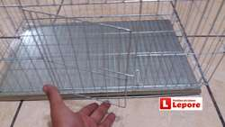 Jaula Conejo Economico Galvanizada Bandeja de Limpieza VIRUTA 51x30x33 Envios